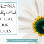 What We Really Need to Heal Our Souls…