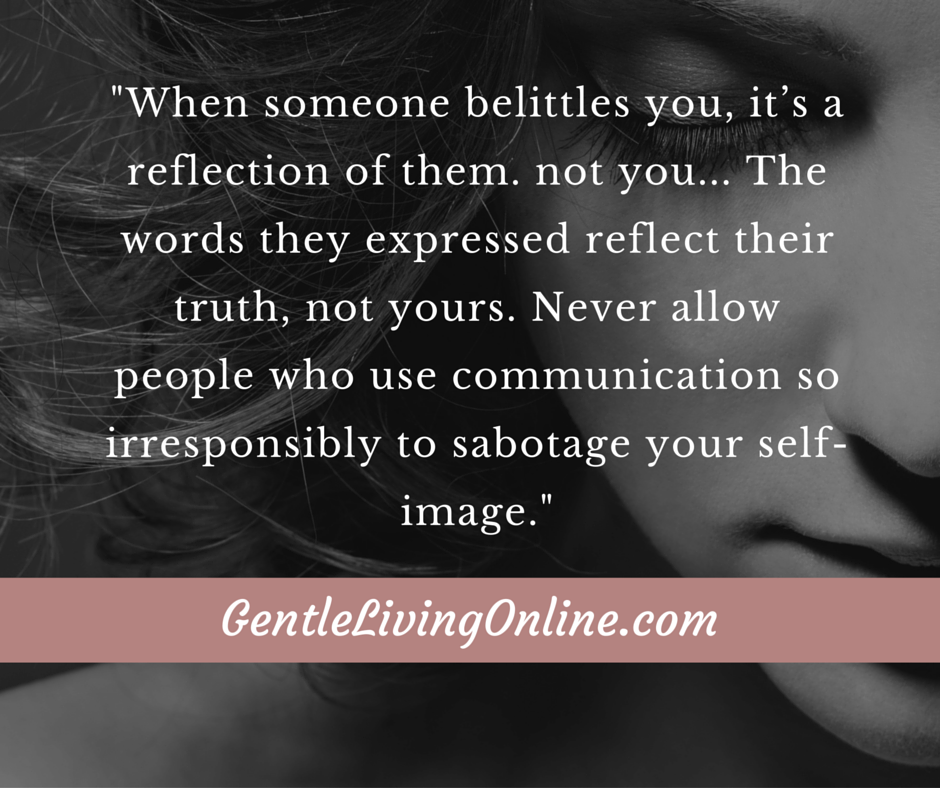 How To Recover Self Esteem After Someone Belittles You Strong