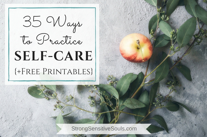 35 Ways to Practice Self-Care {+ Free Printables}