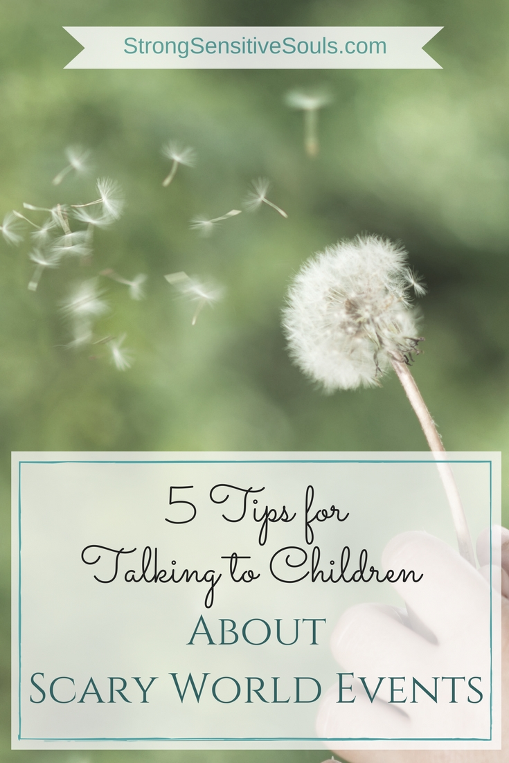 5 Tips for Talking to Children About Scary World Events  My little ones are too young for the news. But they won't always be. And they will have so many questions. Read on for the strategies I will use to answer them.