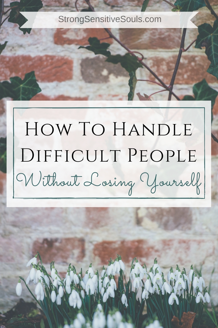 We all get confronted with difficult people. With the right tools and mindset, they won't get the best of us.