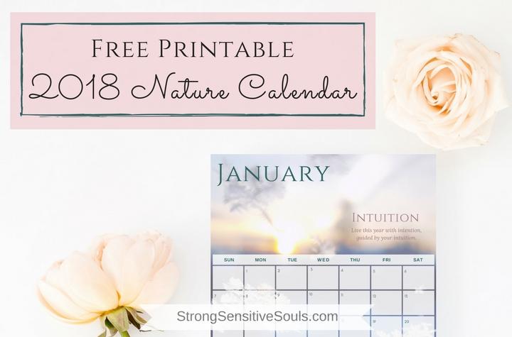 Free Printable 2018 Nature Calendar